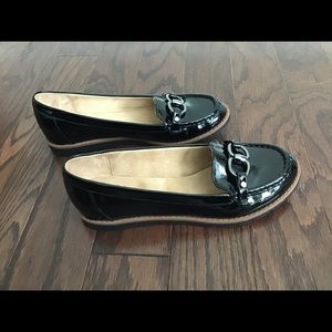 Naturalizer Black Patent Leather Loafers Size 7.5W